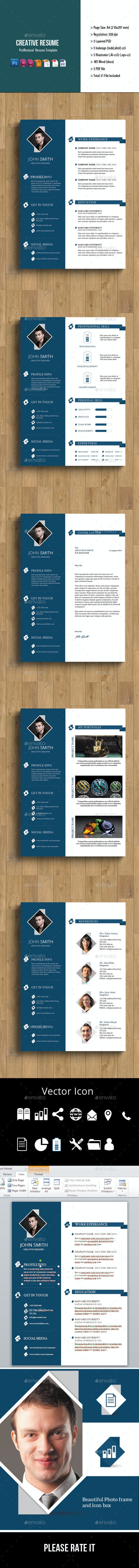 5 Page Creative Resume - Resumes Stationery