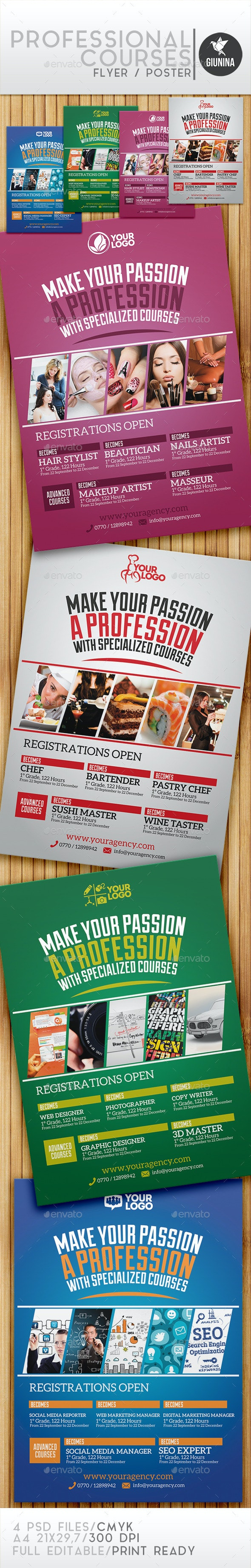 Professional Courses Flyer/Poster - Commerce Flyers