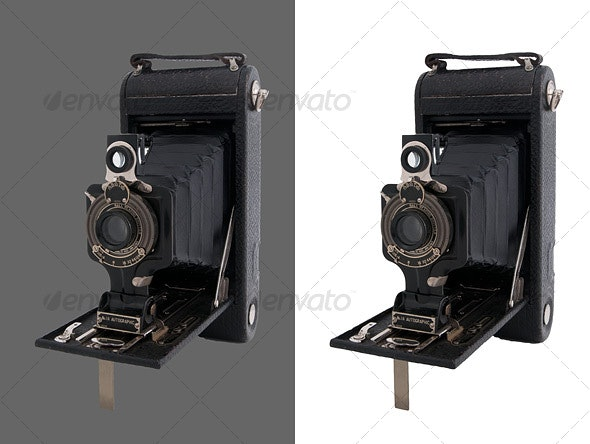 Bellows Camera - Activities & Leisure Isolated Objects
