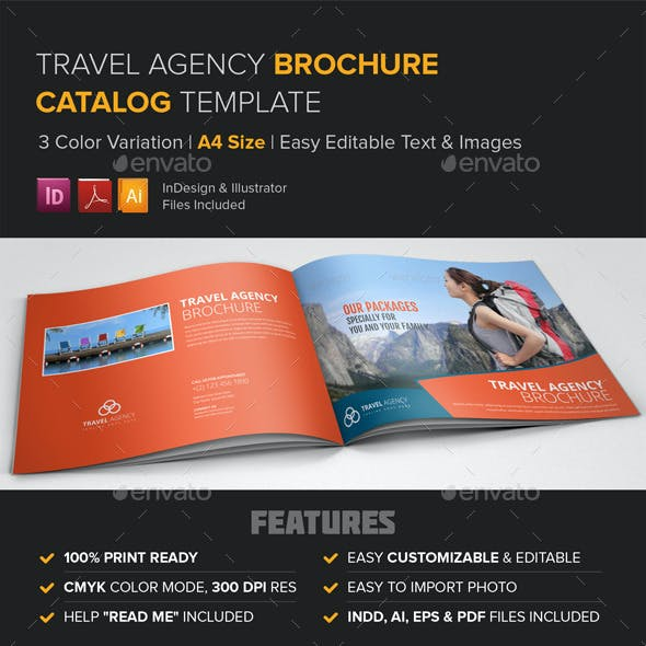 Travel Agency Brochure Catalog Template