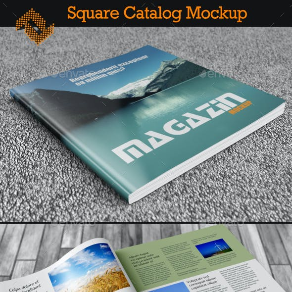 Square Booklet / Catalog / Book Mockup