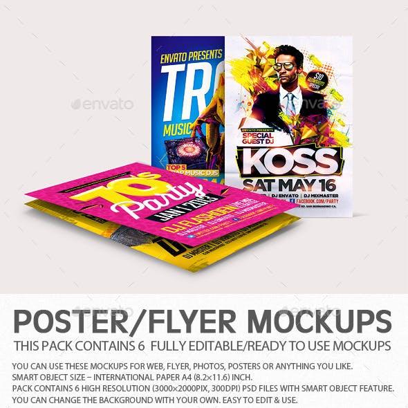Flyer Poster Mockups V4