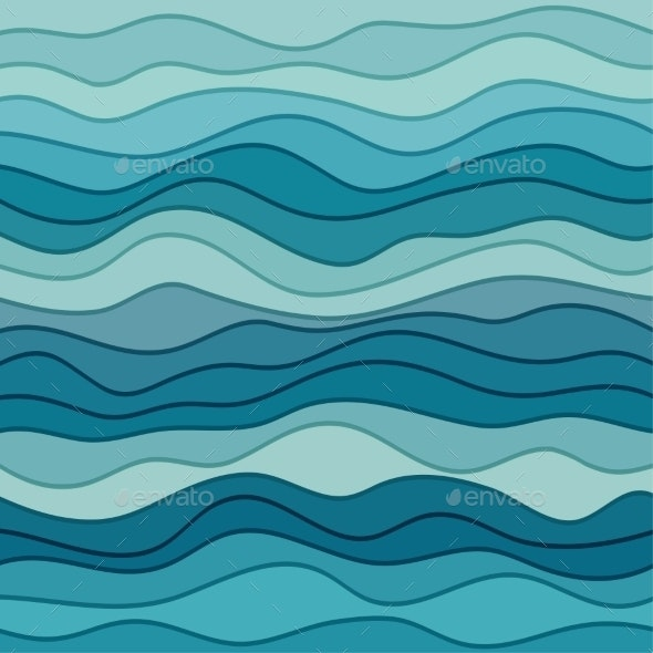 Abstract Blue Wavy Background - Backgrounds Decorative