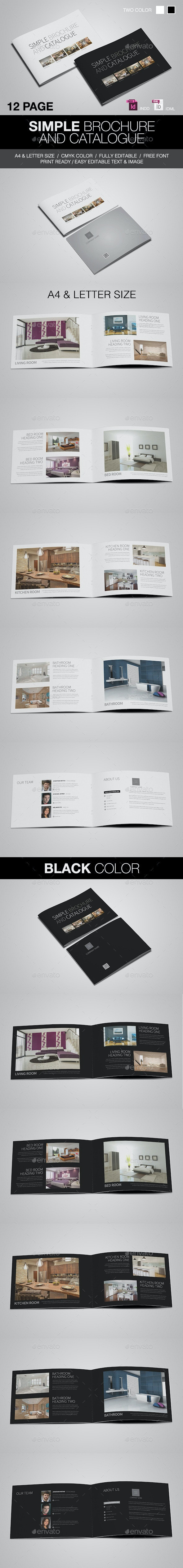 Simple Catalogue/Brochure - Brochures Print Templates