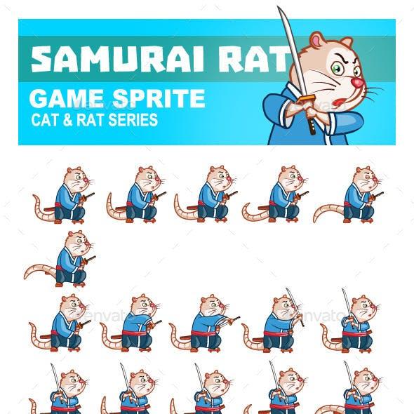 Samurai Rat Game Sprite
