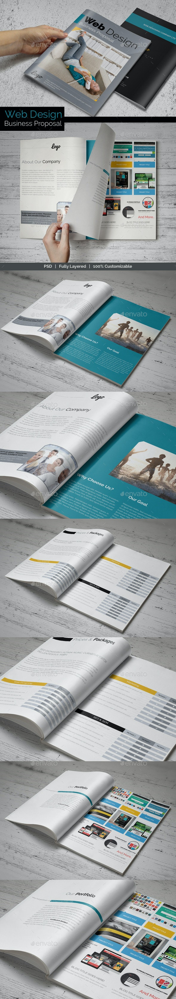 Web Design Business Proposal - Proposals & Invoices Stationery