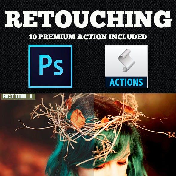 Retouching Photoshop Action