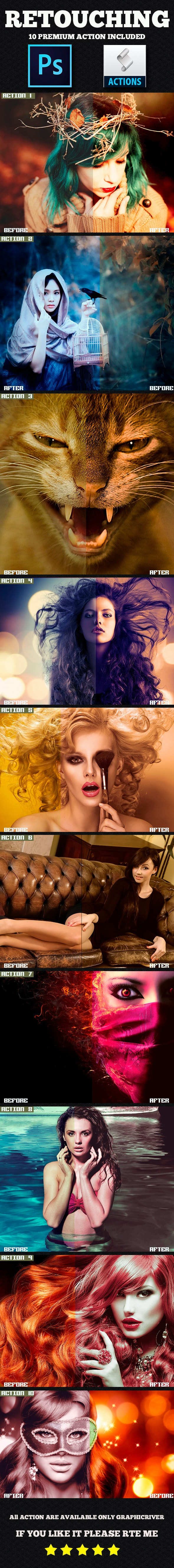 Retouching Photoshop Action - Photo Effects Actions