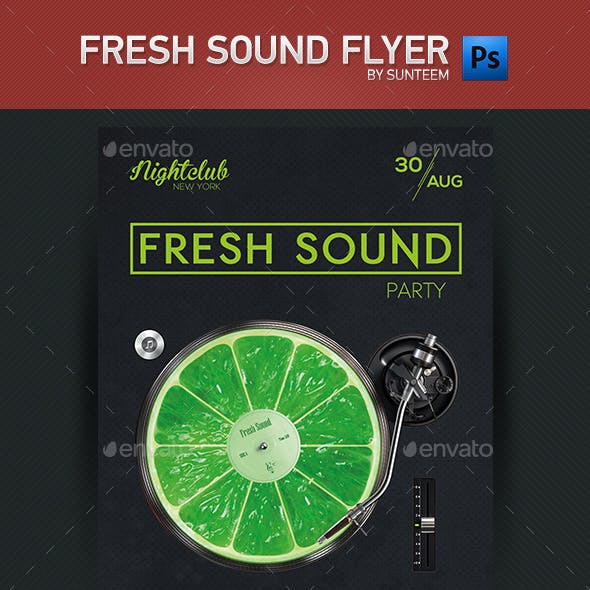 Fresh Sound Party Flyer Template