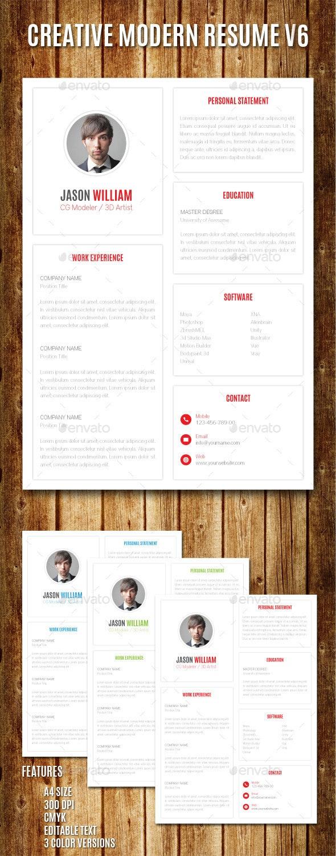 Creative Modern Resume V6 - Resumes Stationery