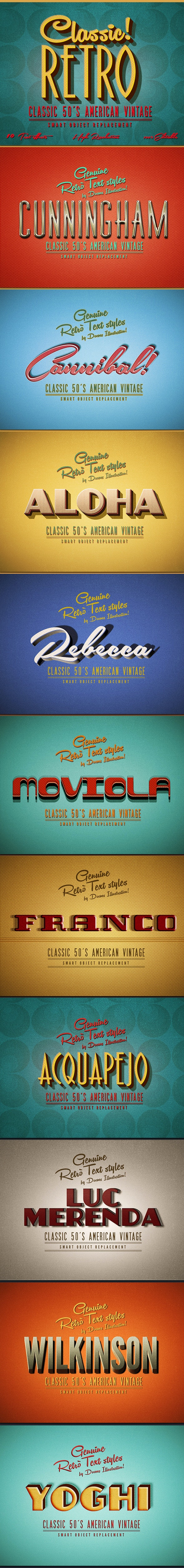 Retro Text Effects Classic American Vintage  - Text Effects Actions