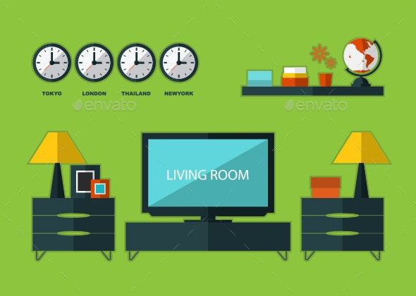 Room Interior Vector - Man-made Objects Objects