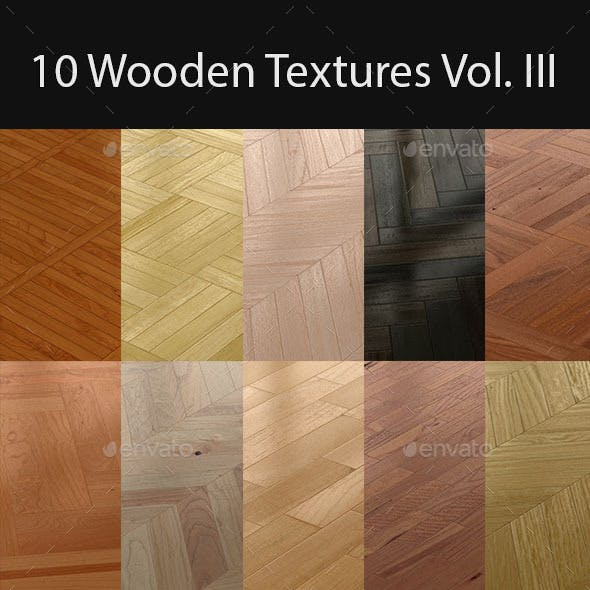 10 Wooden Floor Tileable Texture Vol. III