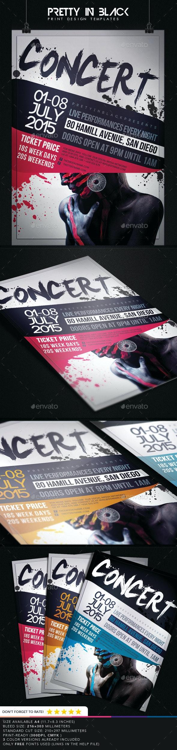 Concert Flyer  - Concerts Events
