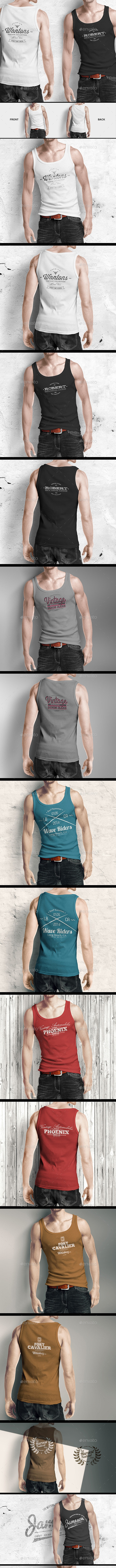 Man Tank Shirt Mock-up - T-shirts Apparel