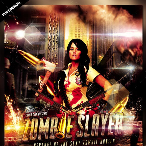 Zombie Slayer Flyer Template Design