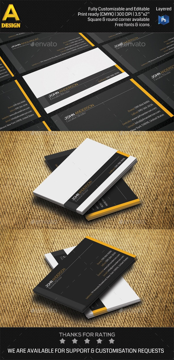 Minimal Personal Business Card AN0454 - Creative Business Cards