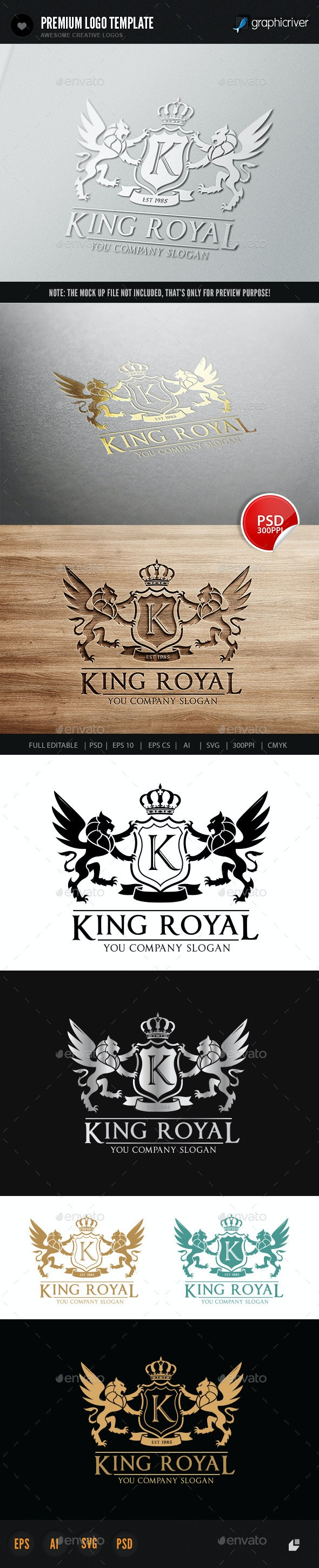 King Royal Logo II - Crests Logo Templates