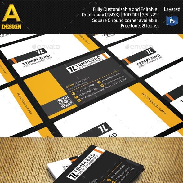 Modern Corporate Business Card AN0455