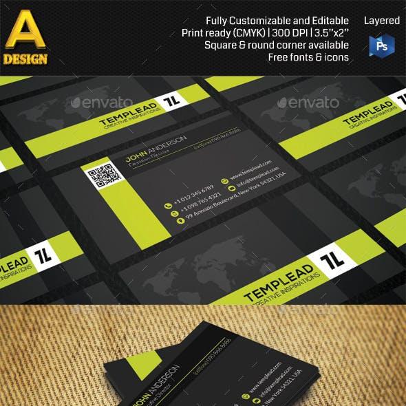 Modern Corporate Business Card AN0465