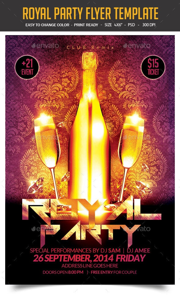 Royal Party Flyer - Clubs & Parties Events