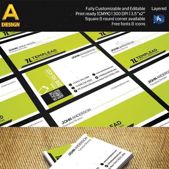 Modern Corporate Business Card AN0468