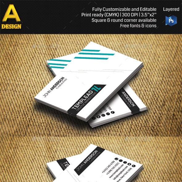 Minimal Corporate Business Card AN0473