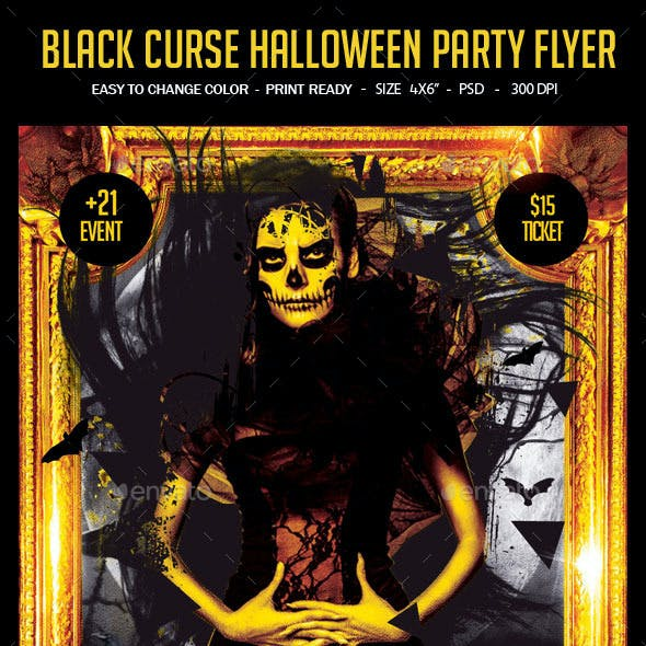 Black Curse Night Party Flyer
