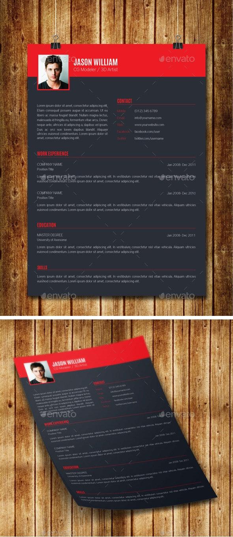 Clean Modern Resume V10 - Resumes Stationery