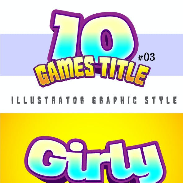 10 Games Title Graphic Style #03