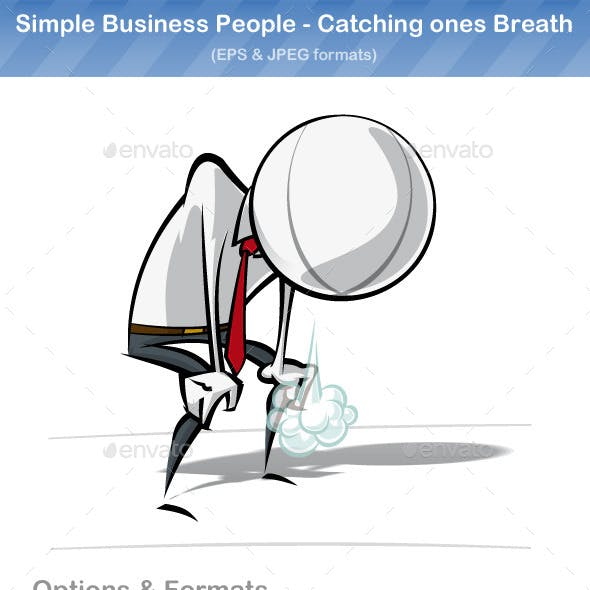 Simple Business People - Catching Ones Breath