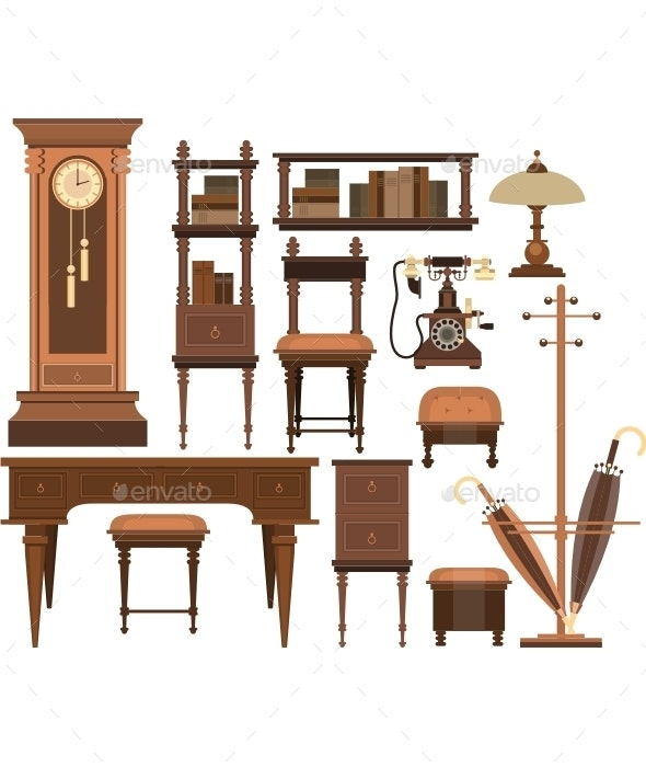Interior Decorations In A Retro Style - Man-made Objects Objects