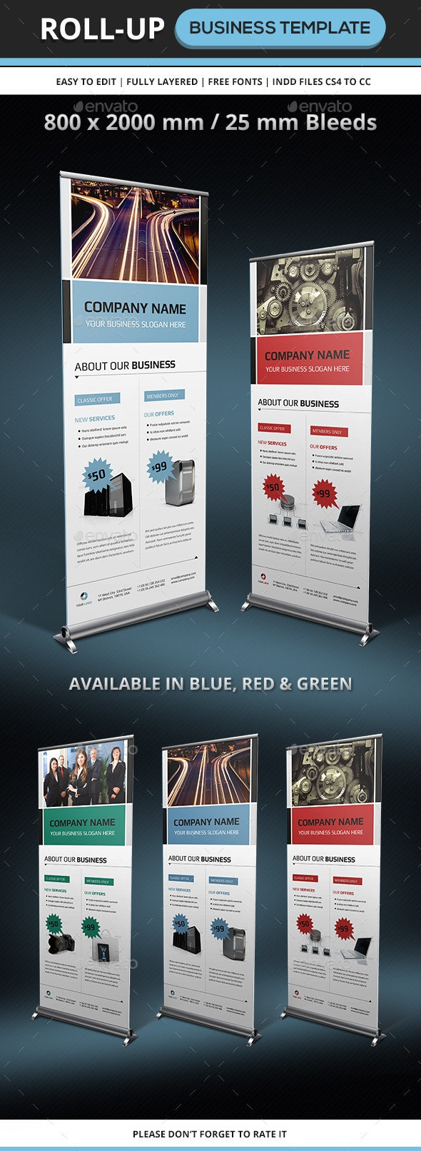 Corporate & Business Rollup Template - Signage Print Templates
