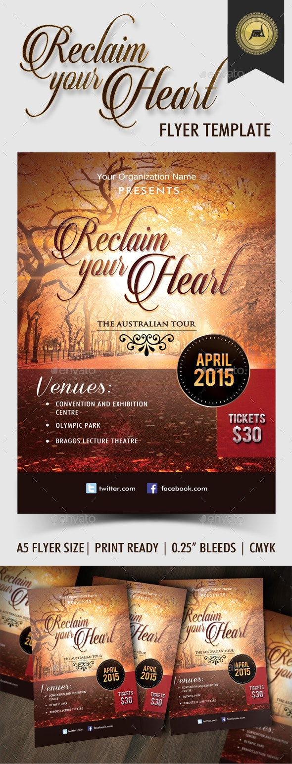 Reclaim Your Heart Flyer Template - Church Flyers