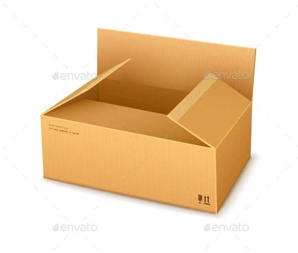 Cardboard Packaging Box Opening - Man-made Objects Objects
