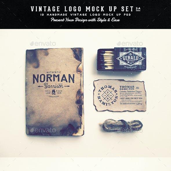 Vintage Logo Mock Up Set Volume 3A