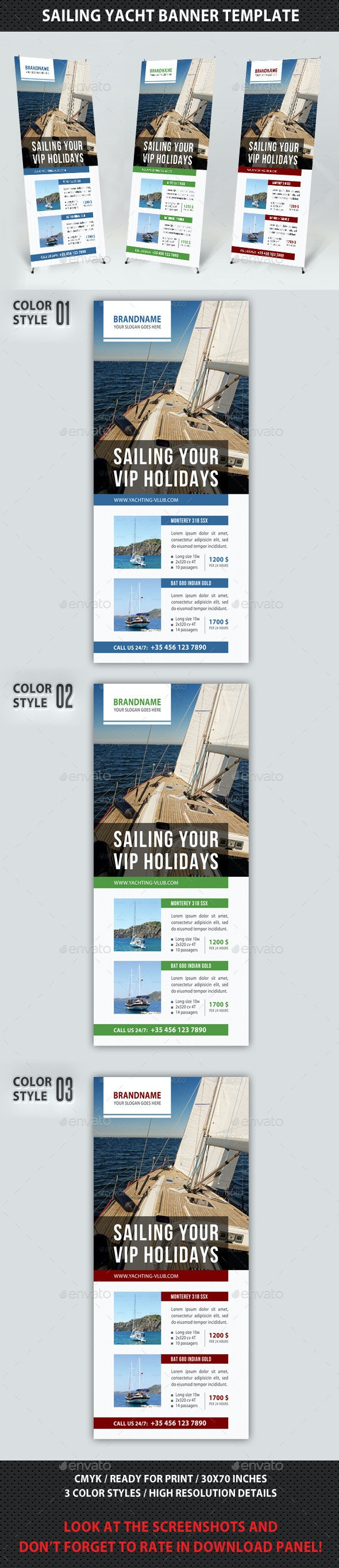 Sailing Yacht Banner Template 02