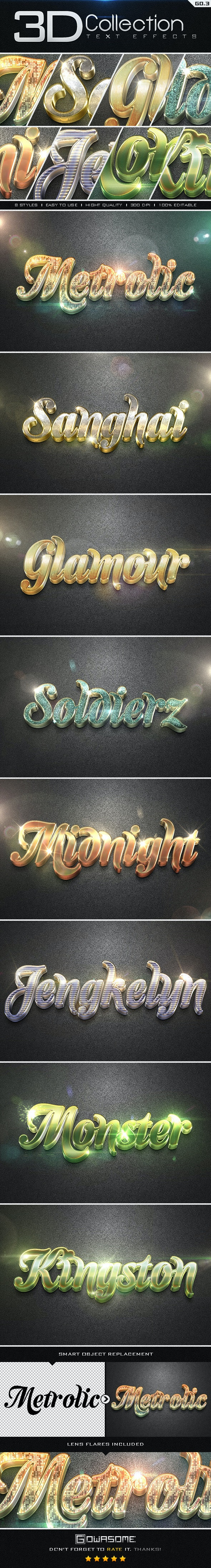 3D Collection Text Effects GO.3 - Text Effects Styles