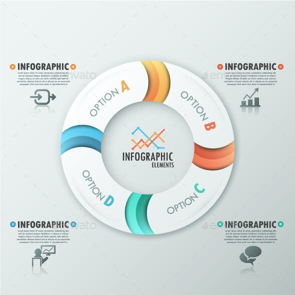 Set of 4 Modern Infographic Templates