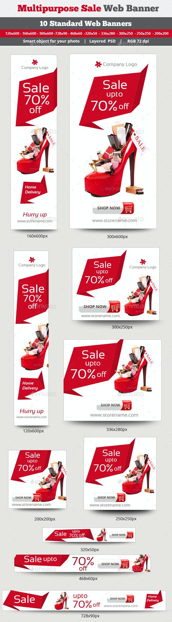 Multipurpose Sales Banner - Banners & Ads Web Elements