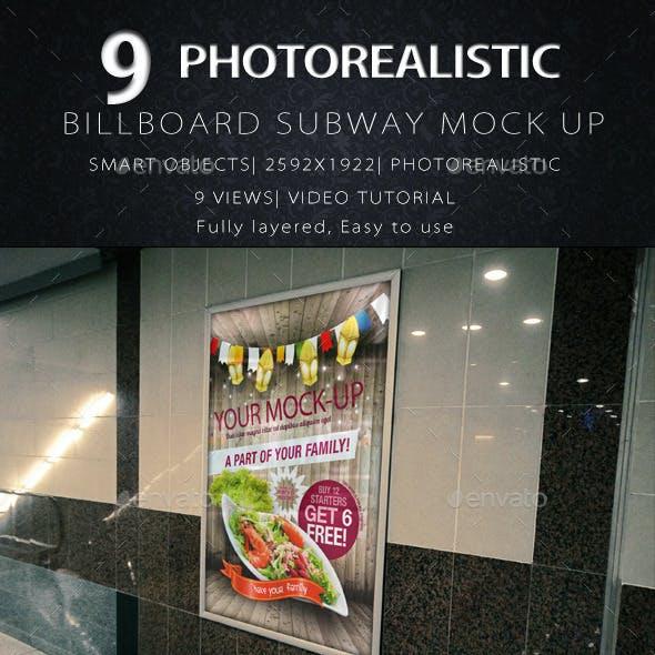 Billboard Subway Mock-Up
