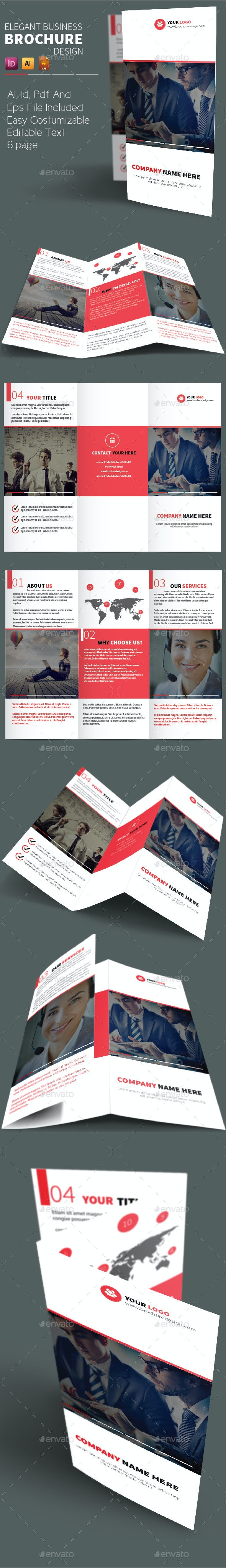Elegant Business Brochure Design - Brochures Print Templates