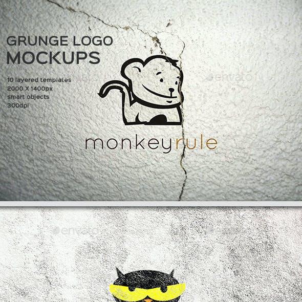 Grunge Logo Mockup