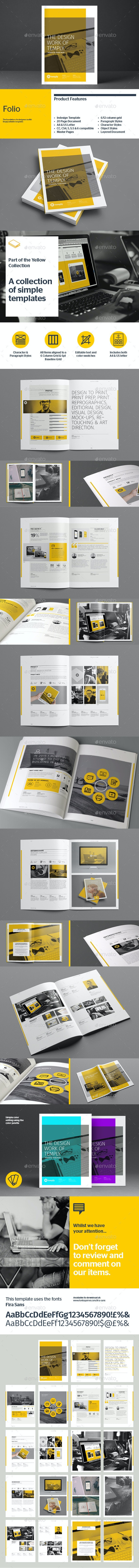 Folio Template - Portfolio Brochures