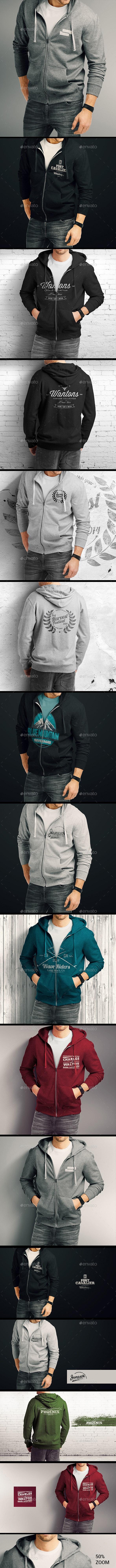 Man Hoodie Mockup - T-shirts Apparel