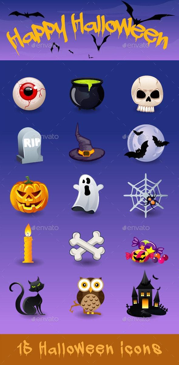 Happy Halloween Icons - Halloween Seasons/Holidays