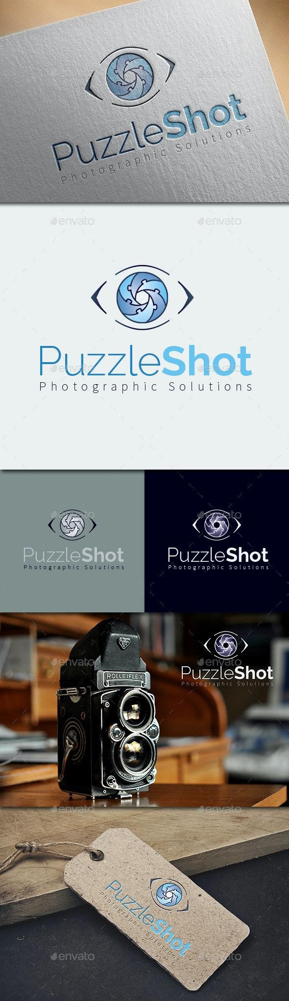 Puzzle Shot Logo Template - Humans Logo Templates