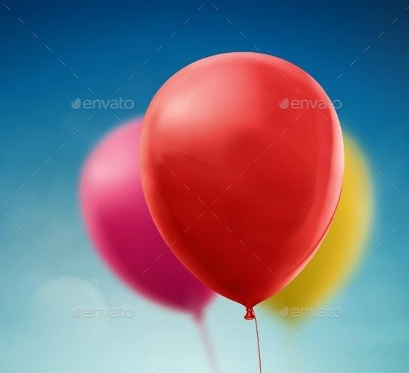 Colorful Balloons - Birthdays Seasons/Holidays