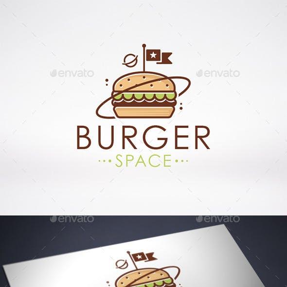 Space Burger Logo Template