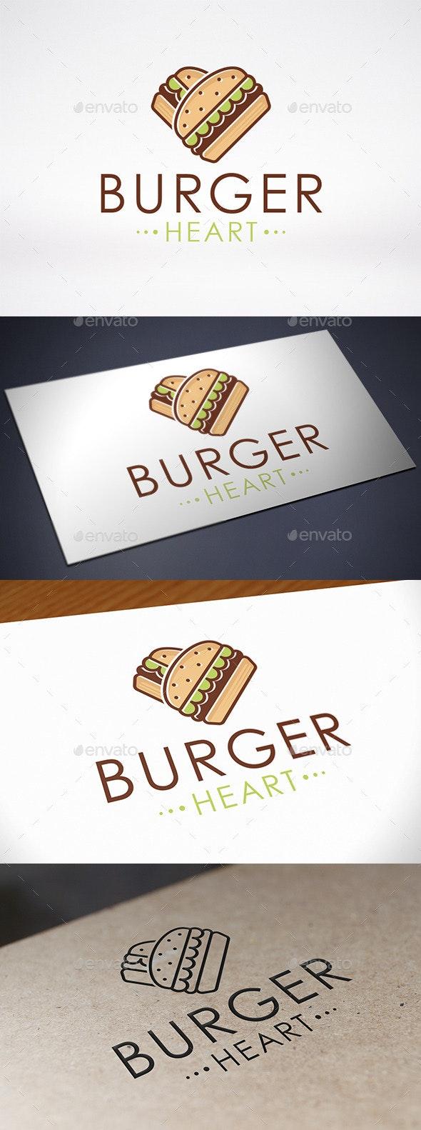 Burger Love Logo Template - Food Logo Templates